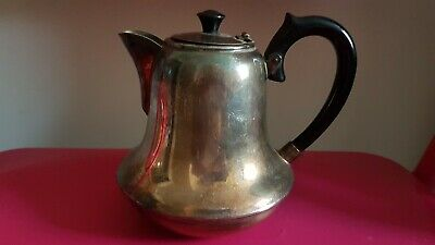 RARE Elwyn Art Deco Epns Silver Plate Charming Small Unusual Bell Shaped Teapot