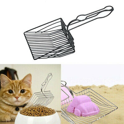 Portable Metal Sifter Cat Litter Scoop Pet Sand Shovel Kitten Sand Cleaner
