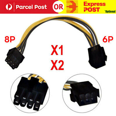 6-pin to 8-pin PCI Express Power Converter Cable for GPU Video Card PCIE