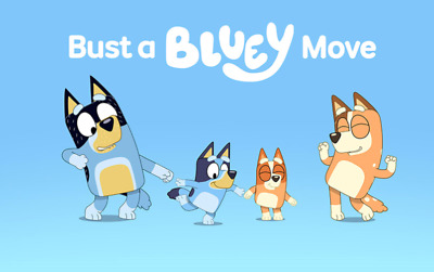 IRON ON TRANSFER - BLUEY and Family ABC KIDS - T-shirt transfer - party supplies