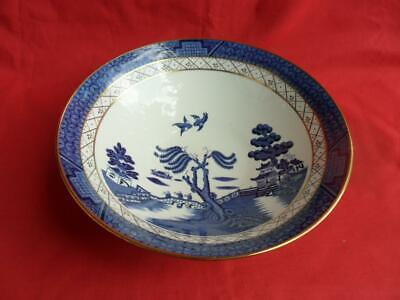 Royal Doulton Booths Real Old Willlow TC1126, Large Footed Bowl