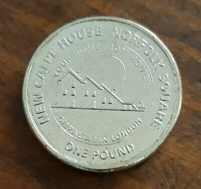 Extremadamente rara Moneda 1 pound Gibraltar 2018 New Calpe House Norfolk Square