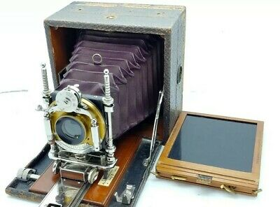 Vintage Antique Rapid Rectilinear BAUSCH & LOMB folding Camera
