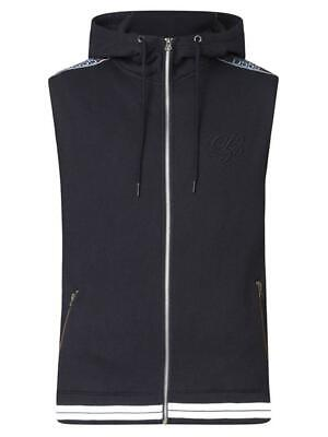 D555 Duke Mens Sleeveless Hoodie Couture Embroidery Black S M L Xl Xxl (600217)