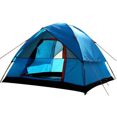 4 Person Double Layer Camping Tent 200x200x130cm Outdoor Rainproof Travel Tent