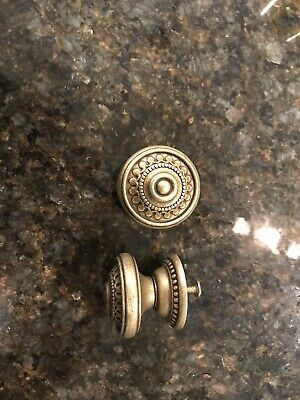 Vintage Style Furniture Hardware Drawer Pulls Knobs Dark Brass Dotted