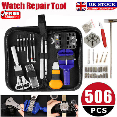 507pcs Watch Repair Tool Kit Watchmaker Back Case Remover Opener Spring Pin Gift