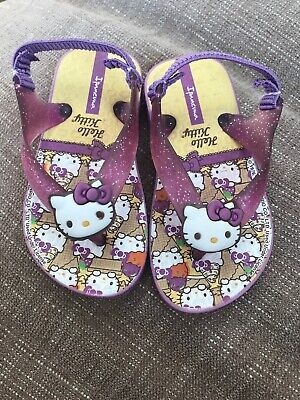 7639e92ba 9/10 M HELLO Kitty Sandals Baby Toddler Girls Plastic Shoes Summer ...