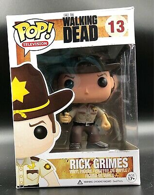 "POP TV The Walking Dead ""Rick Grimes"" No: 13 Funko Pop Vinyl"