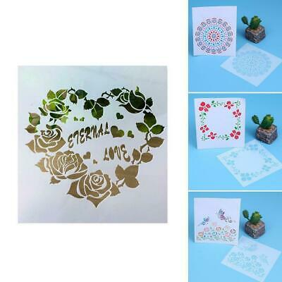 DIY Layering Stencils Template Walls Painting Scrapbooking Stamping Craft Decor