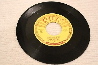 SUN 287 CARL PERKINS Glad All Over / Lend Me Your Comb Mint-