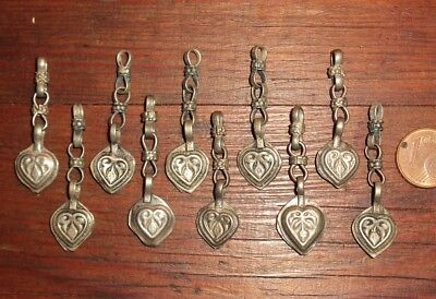 10 Charms Ethno Afghanistan Metall Collier Ethnisch Beads Filigrane
