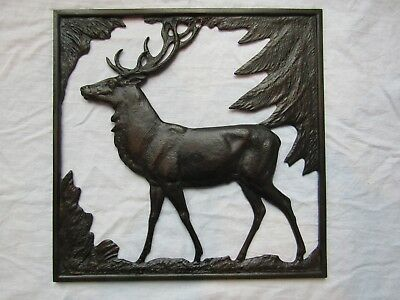 LAUCHHAMMER  LARGE METAL STAG WALL HANGER EAST GERMAN Designed MOSHAGE
