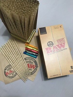 RAW Cones King Size Authentic Pre-Rolled 100 Pack ~ 5 J Tubes