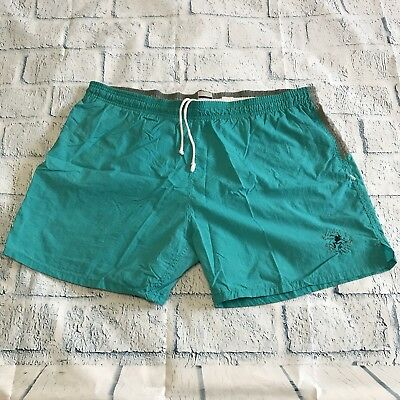 b795f5d050 OP Ocean Pacific Mens Swim Trunks Mesh Lined Teal Pockets Extra Large VTG  90's