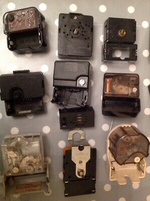 Vintage Clock Movements Battery Electric Clockmakers Spare Parts Untested r 56