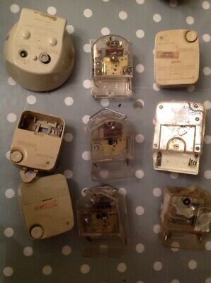 Vintage Smiths Clock Movements Battery Electric Clockmakers Parts Untested
