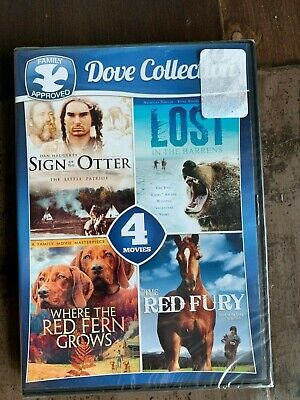 4-Movie Dove Collection (DVD, 2016) NEW Where Red Fern Grows Free Ship