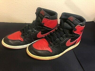 c56927e4d87 Nike Air Jordan 1 Retro 1994 Black x Red Bred Vintage Size 8.5