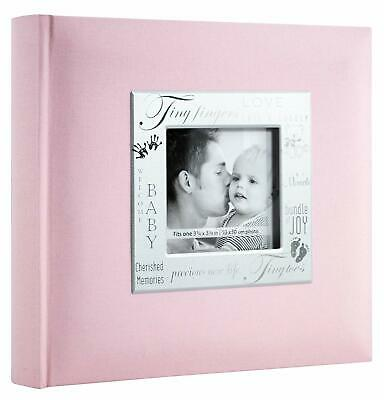 "MBI 9x9"" Fabric Expressions Pocket Baby Girls Picture Album Pink NEW"