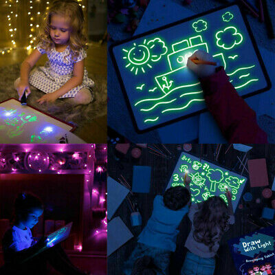 AU Draw With Light Fun And Developing Toy Luminous Pen Drawing Board Gift Kids