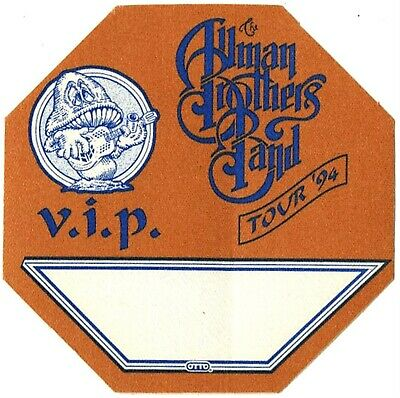 Allman Brothers VIP 1994 concert tour band Backstage Pass Gregg Allman