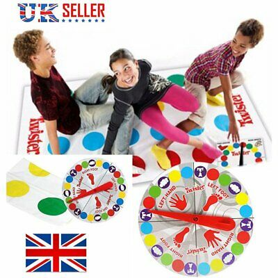 Funny Twister The Classic Family Kids Children Party Body Game w/ 2 More Moves