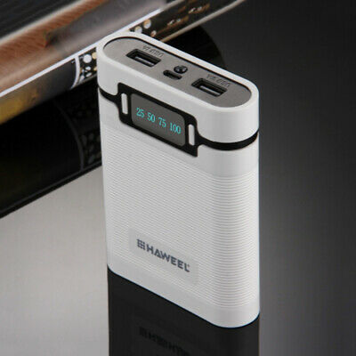 DIY Power Bank Box for iPhone Samsung 18650 Rechargeable Battery White LD1813