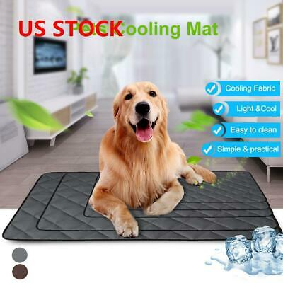 Pet Cooling Mat Pad Gel Cooler For Dog Crate Bed Comfort Chilly Beds S-2XL New