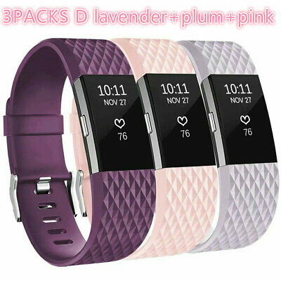For Fitbit Charge 2 Replacement Wristband Wrist Strap Smart Watch Band 3Pack S L