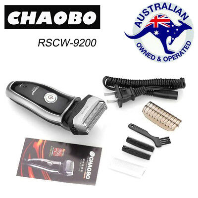 Chaobo Series rscw-9200 Mens Electric Shaver Rechargeable Razor Black&Silver 2f