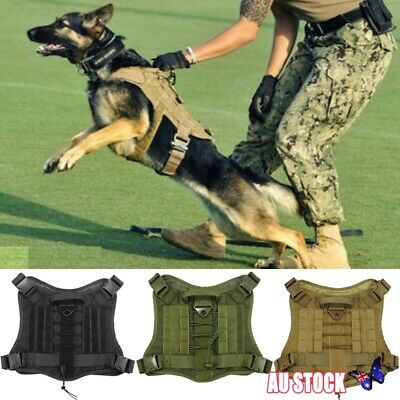 Dog Military Tactical Harness Large Police Dog Vest for German Shepherd Training