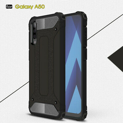 Slim Rugged Rubber PC Hybrid Bumper Case Cover for SamsungGalaxy A50 A70 A40 A20