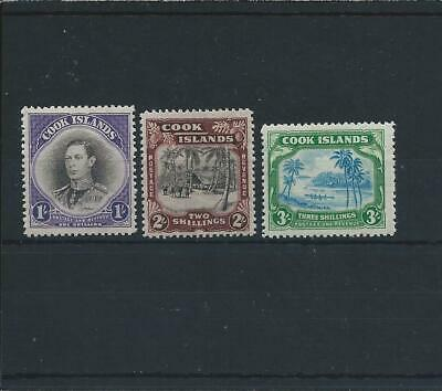 Cook Is 1938 Set Of Three Lmm Sg 127/9 Cat £85