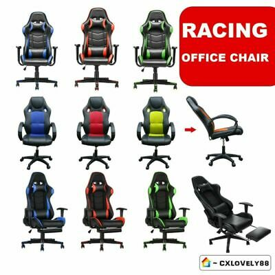 Racing Gaming Chair Office Executive Pu Leather Swivel Recliner Adjustable Chair