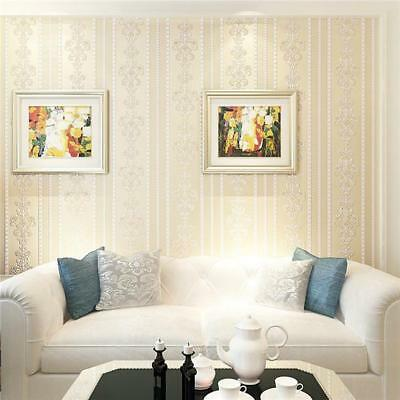 Nonwoven Wallpaper Roll Decal Wall Sticker Removable Bedroom Home Decor DE