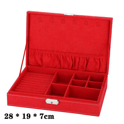 Clearance Sale ! Jewellery Storage Box Earring Rings Necklaces Organizer Case