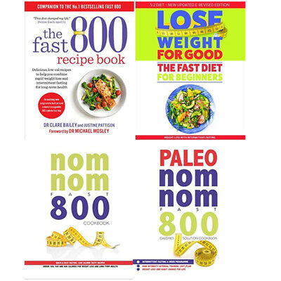 Paleo Nom Nom Fast 800 Cookbook,Lose Weight For Good 4 Books Collection Set NEW