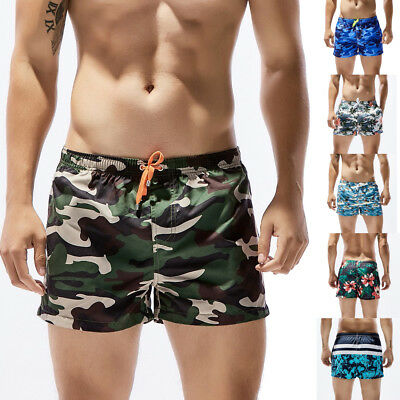 Men Summer Breathable Trunks Briefs Shorts Camouflage Floral Beach Swimwear CA