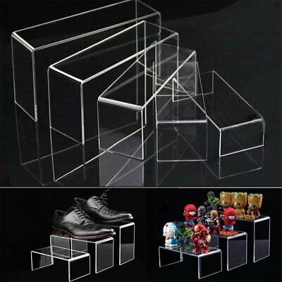 5pcs Super Deal Clear Acrylic Perspex Sturdy Jewellery Display Riser Stand AE