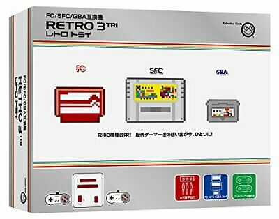 RETRO3 TRI FC SFC GBA Plays Japanese NES SNES Gameboy Advance Console Games