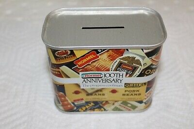 Vintage Hormel 100th Anniversary  1891 - 1991 Tin Coin Bank MINT NEW