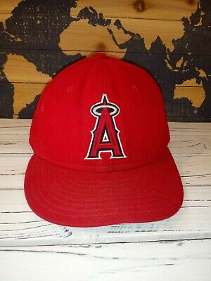 0260bb4e Los Angeles Angels of Anaheim New Era 59Fifty Fitted Baseball Hat Cap Size 7  5/
