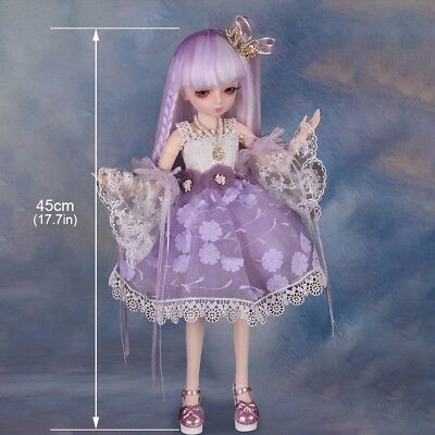 1/4 BJD Doll SD Dolls Girl Free Face Make Up + Free Eyes + Free Clothes Xmas Toy