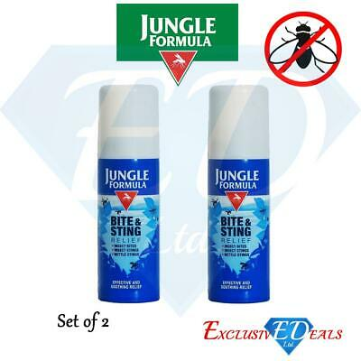 2 x Jungle Formula Bite & Sting Relief Insect Bites, Stings & Nettles Spray 50ml