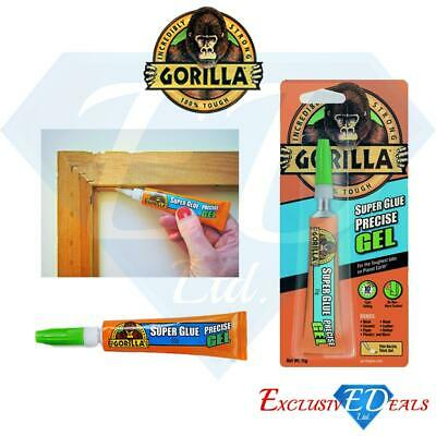 Gorilla Super Glue Precise Gel 15g No Run More Control Exra Precise Thin Nozzle