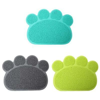 Silicone Placemat Paw Shaped Dog Puppy Pet Feeding Cat Bowl Food Water Mat JA