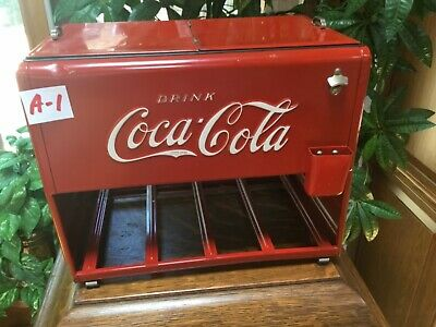 Extra Nice ALL-ORIGINAL 1939 Coca Cola Salesman Sample Cooler with Case & Paperw