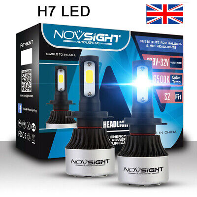 Nighteye Pair 72W 9000LM H7 LED Conversion Bulb Beam Headlight KIT 6500K White