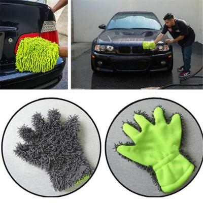 Microfibre Glove Car Care Kitchen Household Wash Washing Cleaning Supplies DS